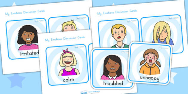 My Emotions Faces Discussion Cards - emotions, feeling, ourselves
