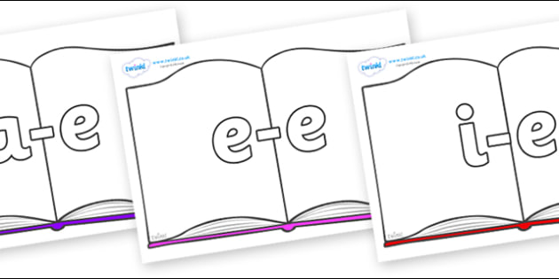 Modifying E Letters on Books - Modifying E, letters, modify, Phase 5, Phase five, alternative spellings for phonemes, DfES letters and Sounds