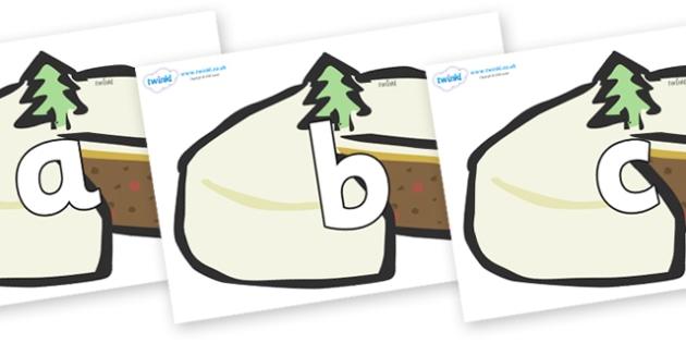 Phoneme Set on Christmas Cakes - Phoneme set, phonemes, phoneme, Letters and Sounds, DfES, display, Phase 1, Phase 2, Phase 3, Phase 5, Foundation, Literacy