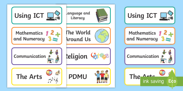 Northern Ireland Subject Organisation Drawer Labels - Northern Ireland Classroom Organisation, labels, display, subjects, drawer