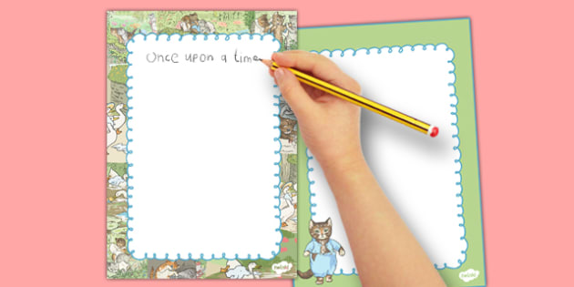 Beatrix Potter - The Tale of Tom Kitten Editable Note - beatrix potter, tom kitten