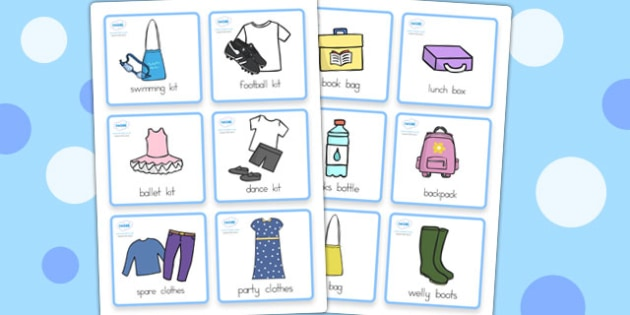 Special Needs Commuinication Cards Things to Remember Girl