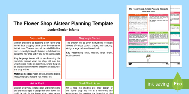 The Flower Shop Aistear Planning Template