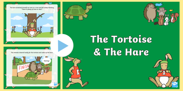 The Tortoise and The Hare PowerPoint - stories, story books, book