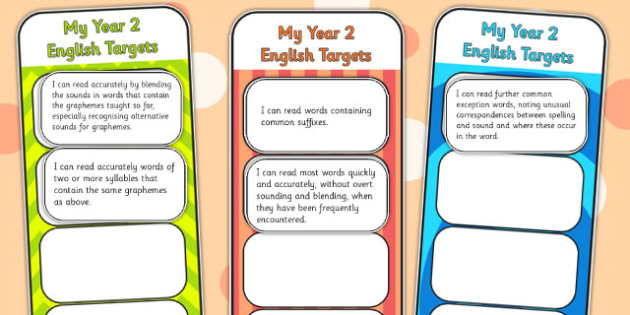 2014 Curriculum Year 2 English Assessment Bookmarks and Cut Outs