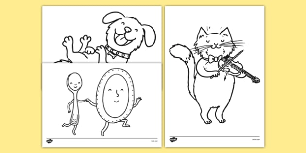 Hey Diddle Diddle Colouring Sheets - hey diddle diddle, colouring sheet, colour