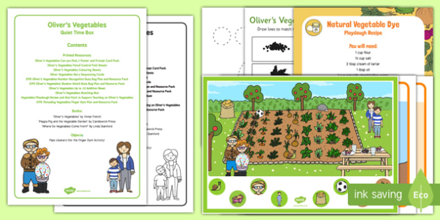 Quiet Time Box to Support Teaching on Oliver's Vegetables