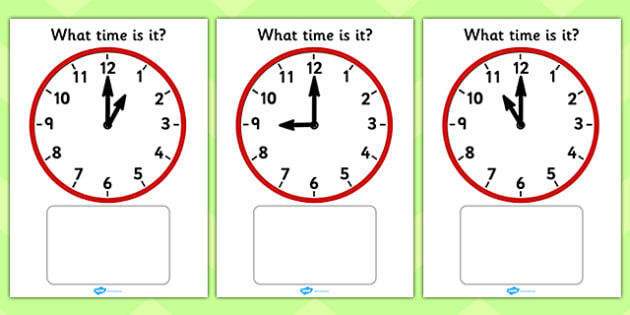Clock Matching Game - O' Clock - Clock time matching game, Time, Time resource, Time vocabulary, clock face, O'clock, half past, quarter past, quarter to, shapes spaces measures, clock game, time game, foundation stage, KS1