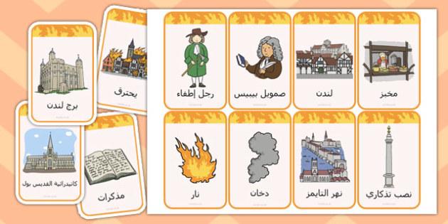 بطاقات فلاش عن حريق لندن الكبير - حريق لندن الكبير، موارد تعليمية