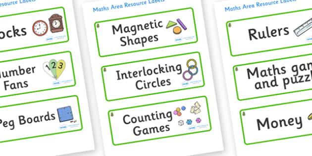 Horse Chestnut Tree Themed Editable Maths Area Resource Labels - Themed maths resource labels, maths area resources, Label template, Resource Label, Name Labels, Editable Labels, Drawer Labels, KS1 Labels, Foundation Labels, Foundation Stage Labels,