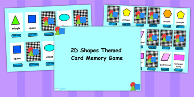 2D Shape Matching Cards Flipchart Activity - 2D, shape, 2D shapes