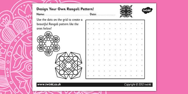 Diwali Rangoli Pattern Design Template - diwali rangoli, diwali, pattern design, diwali pattern, drawing, colouring, design worksheet, diwali worksheet