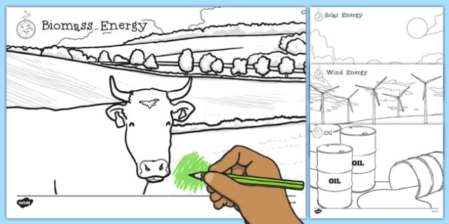 Renewable and Non Renewable Energy Coloring Sheets - renewable, non-renewable, energy, colouring