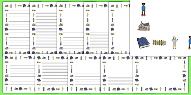Foundation Phase Back to School Page Border Pack - Back to school, resources,Welsh, writing, frame