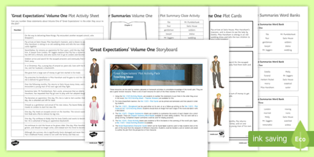 Great Expectations Plot Activity Pack