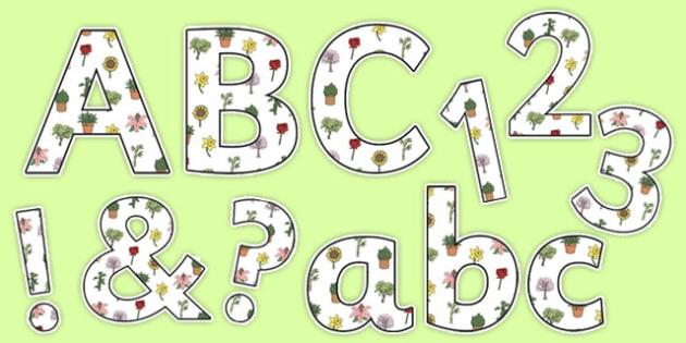 Garden Display Lettering - garden, display lettering, display, lettering, letter
