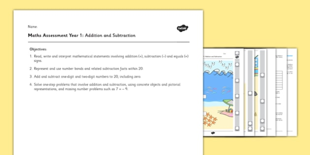 Year 1 Maths Assessment: Addition and Subtraction Term 1 - assessment, year 1, maths, addition, subtraction, term 1