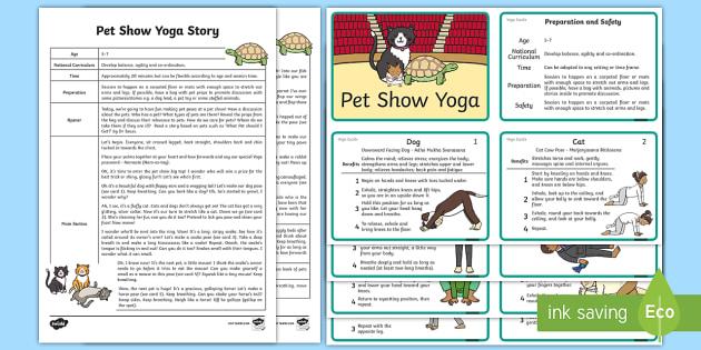 Pet Show Yoga Story - Yoga, health, stress, calm, peace, KS1, KS2, well being, anxiety, work life balance, WLB