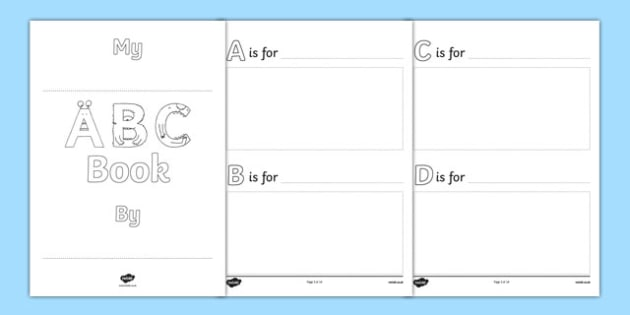 End of Year ABC Book - usa, america, end of year, abc book, end of year book