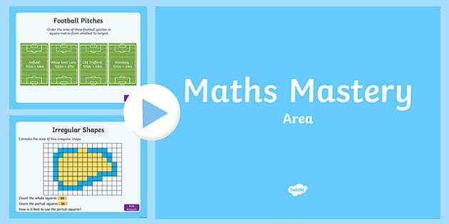 Year 5 Measurement Area Maths Mastery Activities PowerPoint
