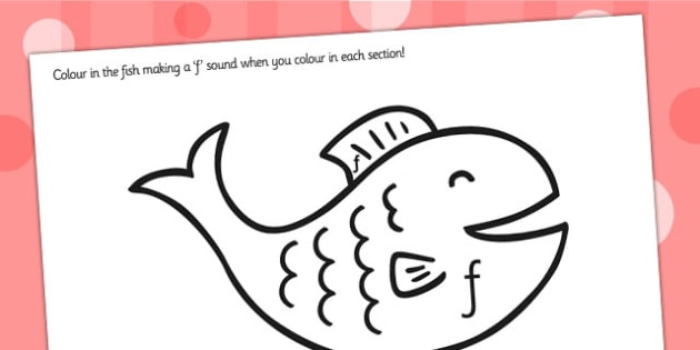 Production fish Colouring Sheet - sounds, sound production, f