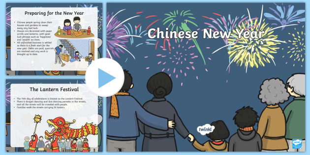 Chinese New Year Information PowerPoint - discussion prompt