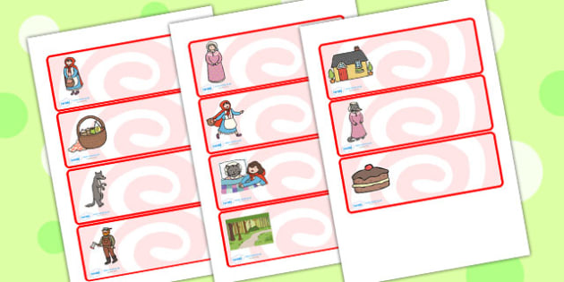 Little Red Riding Hood Drawer Peg Name Labels - little red riding hood, name label, draw and peg name label, draw label, peg labels, draw peg name labels