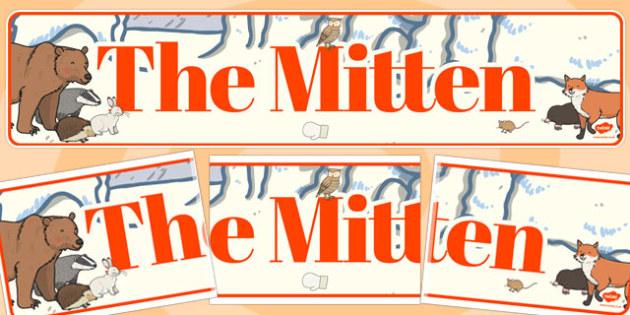 The Mitten Display Banner - the mitten story, display banner, banner