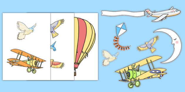 Sky Themed Wall Decals -Display, Display Resources, Banners, Posters, Lettering, A-Z, Early Years (EYFS), KS1 & KS2 Primary Teaching Resources, sky, summer