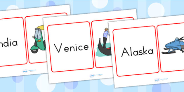 Transport Around the World Matching Cards - transport, matching
