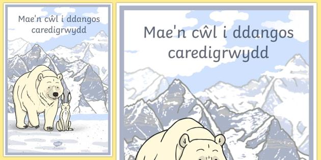 Mae'n Cŵl i ddangos Caredigrwydd