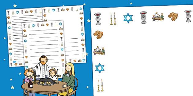 Shabbat Page Borders - shabbat, page borders, judaism, sabbath