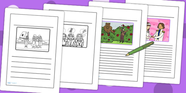 Beauty and the Beast Story Writing Frames - writing templates