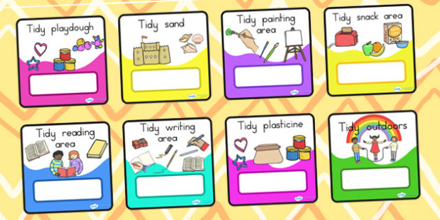 Tidy Up Job Cards - tidying, class management, cleaning, job card