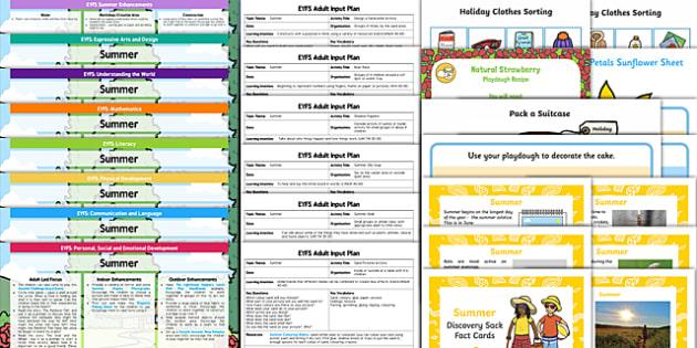 EYFS Summer Themed Bumper Planning Pack - eyfs, summer, plan