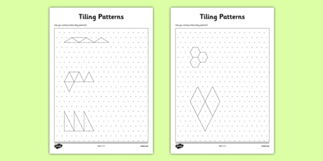 Tiling Patterns on Isometric Dot Paper CfE tiling shape – Isometric Dot Paper