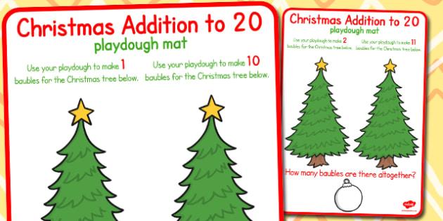 Christmas Addition to 20 Playdough Mats - christmas, playdough