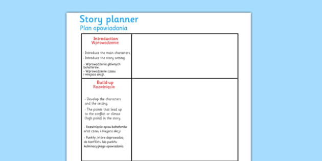 Story Planning Frame Polish Translation - polish, story planning, story, planning, frame