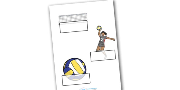 The Olympics Volleyball Self Registration - Volleyball, Olympics, Olympic Games, sports, Olympic, London, 2012, Self registration, register, editable, labels, registration, child name label, printable labels, activity, Olympic torch, events, flag, co