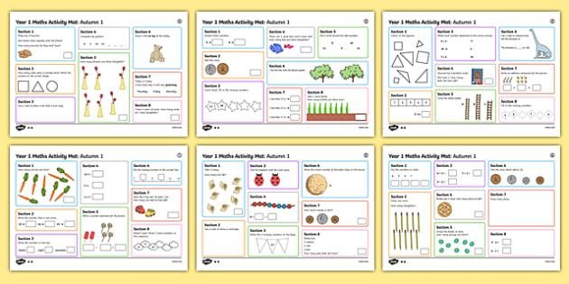 Year 1 Autumn 1 Maths Activity Mats