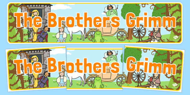 The Brothers Grimm Display Banner - the brothers grimm, fairy tales, display banner, display, banner, authors