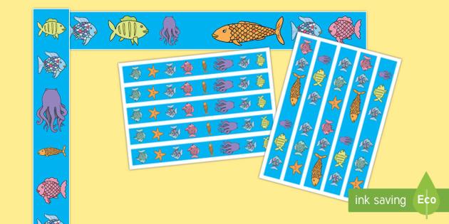 El pez arcoiris Pack de bordes