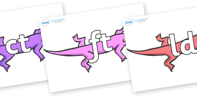 Final Letter Blends on Lizards - Final Letters, final letter, letter blend, letter blends, consonant, consonants, digraph, trigraph, literacy, alphabet, letters, foundation stage literacy