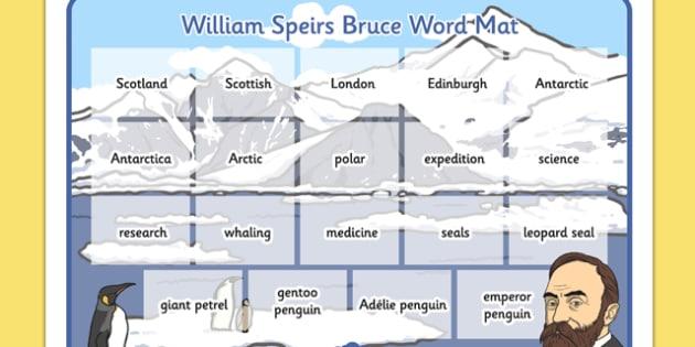 William Speirs Word Mat - william speirs bruce, word mat, word, mat, ks2