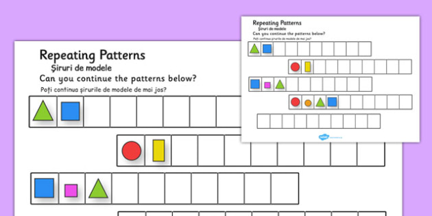 Repeating Patterns Shapes and Colours Romanian Translation - romanian, repeating, pattern, shapes, colours