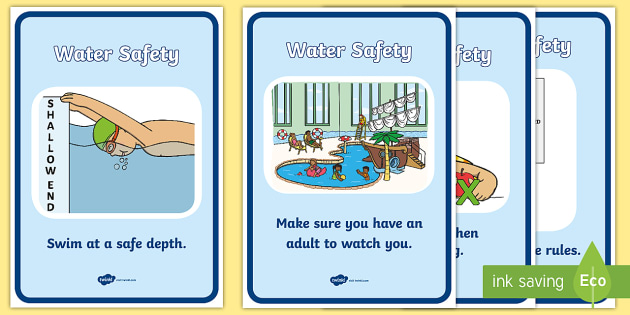 Water Safety Display Posters - Water safety, Water, safe, Display Words, display, summer, water fun, water danger, safety round water, water