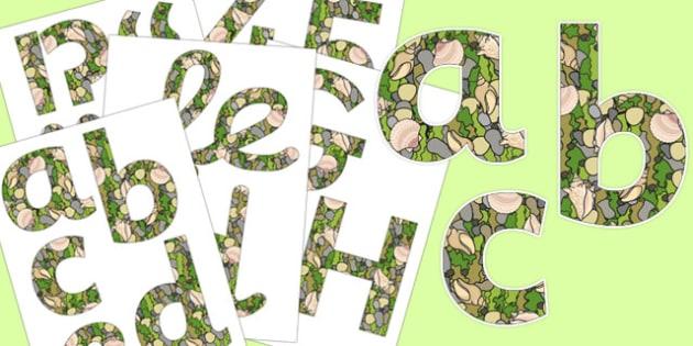Seaside Display Lettering - seaside, display lettering, display, letters, lettering