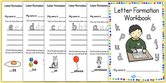 Letter Formation Workbook (A-Z) - Handwriting, letter formation, workbook, writing practice, foundation, letters, writing, learning to write, DFES letters and sounds