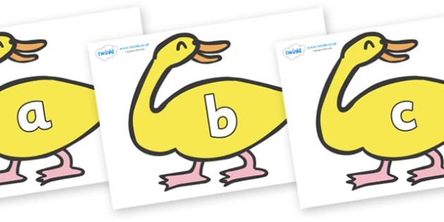 Phase 2 Phonemes on Yellow Duck to Support Teaching on Brown Bear, Brown Bear - Phonemes, phoneme, Phase 2, Phase two, Foundation, Literacy, Letters and Sounds, DfES, display