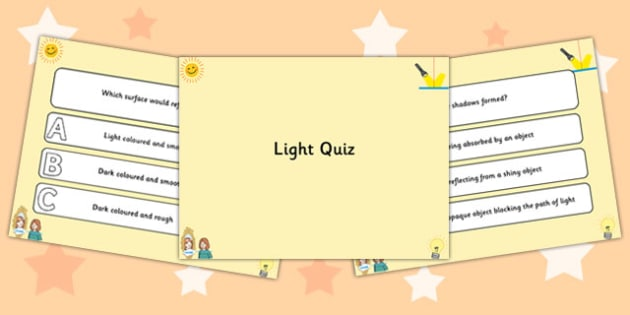 Light PowerPoint Quiz - light, powerpoint, quiz, powerpoint quiz